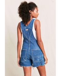 Urban Renewal Multicolor Vintage Dickies 90's Cut-off Shortall Overall
