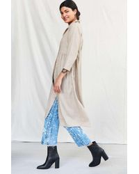 Urban Renewal - Multicolor Remade Linen Button-down Babydoll Dress - Lyst