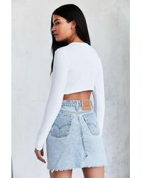 Truly Madly Deeply - White Destination Long-sleeve Crop Tee - Lyst