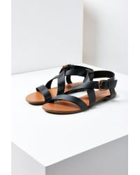 Urban Outfitters - Black Maddie Leather Sandal - Lyst