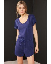 BDG | Blue Cuffed Knit Tee Romper | Lyst