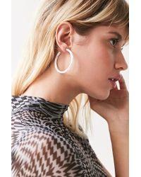 Urban Outfitters - White Edie Hoop Earring - Lyst