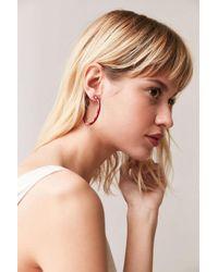 Urban Outfitters | Red Edie Hoop Earring | Lyst
