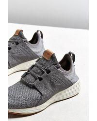 New Balance Gray Fresh Foam Cruz Sneaker for men