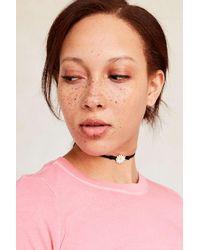 Urban Outfitters | White Ella Enamel Charm Choker Necklace | Lyst