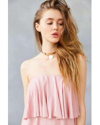 Kimchi Blue | Pink Strapless Ruffle Overlay Knit Mini Dress | Lyst