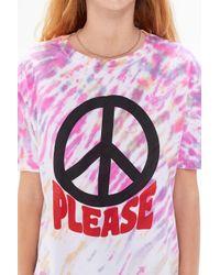 BDG Multicolor Peace Please Tie-dye Tee
