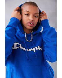 Champion | Blue + Uo Logo Patch Hoodie Sweatshirt for Men | Lyst