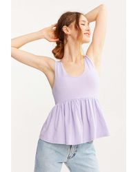 Truly Madly Deeply | Purple Annabella Peplum Tank Top | Lyst