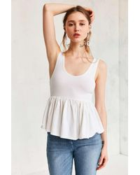 Truly Madly Deeply | White Annabella Peplum Tank Top | Lyst