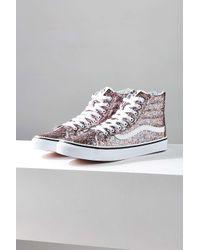 84ffa6ae6889 Lyst - Vans Chunky Glitter Sk8-hi Slim Sneaker in Blue