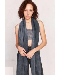 Urban Outfitters | Black Soft Acid Wash Blanket Scarf | Lyst