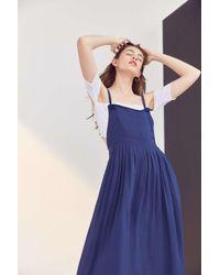 Kimchi Blue   Blue Annie Overall Midi Dress   Lyst