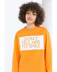 Silence + Noise | Orange Don't Tell Her To Smile Tee | Lyst