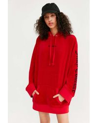 Juicy Couture | Red For Uo Oversized Velour Hoodie | Lyst