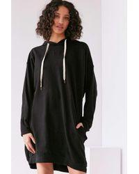 Project Social T | Black Extreme Dolman Sleeve Sweatshirt Dress | Lyst