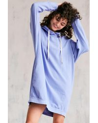 Project Social T | Blue Extreme Dolman Sleeve Sweatshirt Dress | Lyst