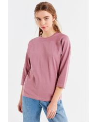 Urban Outfitters - Purple Uo Contrast Stitch Football Shirt - Lyst