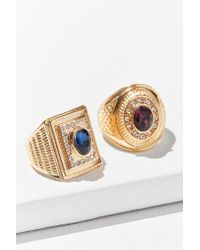 Urban Outfitters - Blue Collegiate Ring Set - Lyst