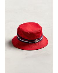 fa486c68 Fila Fila Reversible Bucket Hat in Red for Men - Lyst