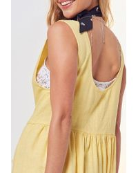 Cooperative Yellow Oversized Linen Babydoll Dress