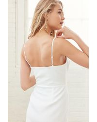 Silence + Noise - White Strappy Bodice A-line Mini Dress - Lyst