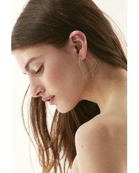 Urban Outfitters - Metallic Heart Hoop Earring Set - Lyst