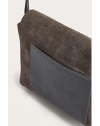 Urban Outfitters Gray Grey Suede Crossbody Bag
