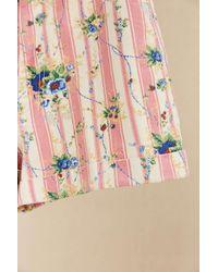 Urban Renewal - Vintage Pink Stripe Floral Short - Lyst