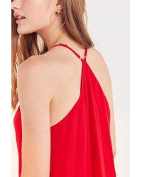 Ecote | Red Gauzy Button-front Racerback Mini Dress | Lyst
