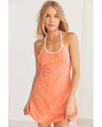 BDG Orange Tara Terry Halter Mini Dress