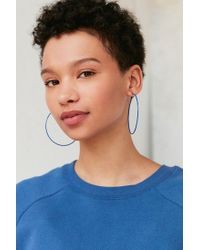 Urban Outfitters - Blue Oversized Wire Hoop Earring - Lyst