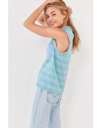 BDG | Blue Striped Mock-neck Tank Top | Lyst