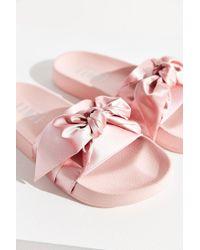 on sale c5014 c7fdd Women's Pink Fenty By Rihanna Satin Bow Slide
