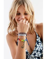 Urban Outfitters - Blue Friendship Bracelet Set - Lyst