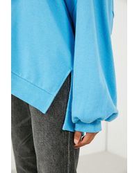 BDG - Blue Oversized V-neck Pullover Top - Lyst
