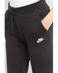 Nike Black Swoosh Joggers