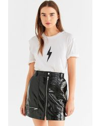 Truly Madly Deeply - White Lightning Bolt Cut-out Tee - Lyst