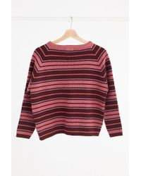 Urban Outfitters - Red Vintage '70s Pink Stripe Sweater - Lyst