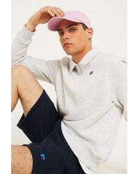 Russell Athletic Logo White Quarter Zip Polo Shirt - Mens S for men