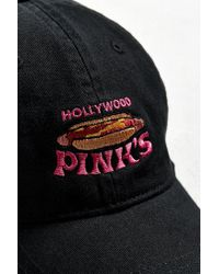 Urban Outfitters - Black Hollywood Pink's Dad Hat for Men - Lyst