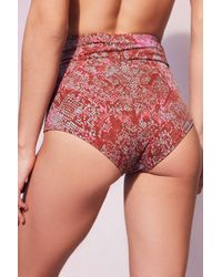 Out From Under Orange Flat High-waisted Bikini Bottoms