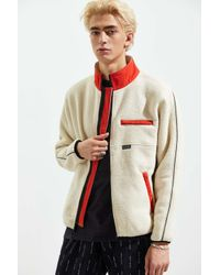 Stussy Multicolor Polar Fleece Mock Neck Jacket for men