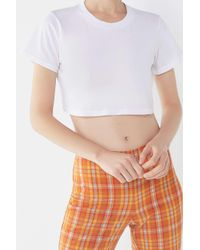 Project Social T White Super Cropped Short Sleeve Tee