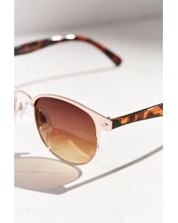 Urban Outfitters - Metallic Camille Painted Square Sunglasses - Lyst