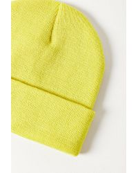 Urban Outfitters - Yellow Double Knit Essential Beanie - Lyst