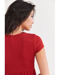 Urban Outfitters - Orange Uo Clementine Plunging Babydoll Top - Lyst
