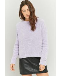 Urban Outfitters Purple Urban Outfitters Chenille Pullover Jumper