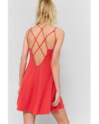 Sparkle & Fade Pink Strappy Back Flippy Dress