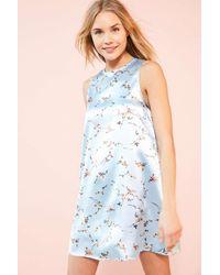 Kimchi Blue | Carmine Blue Satin Frock Mini Dress | Lyst